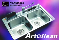 One PC Process Stainless Steel Sink (AGB-818)