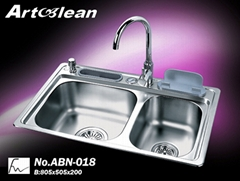 One Pc Process Stainless Steel Sink (ABN-018)