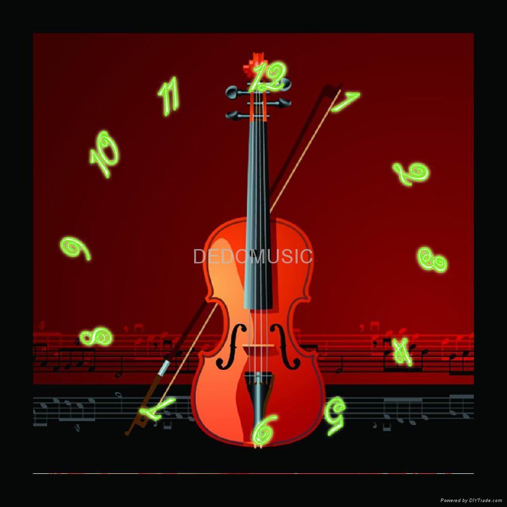 小提琴无框画钟