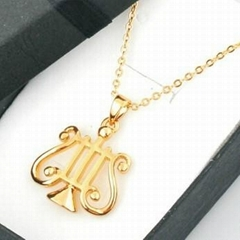 Musical note necklace ,music gifts