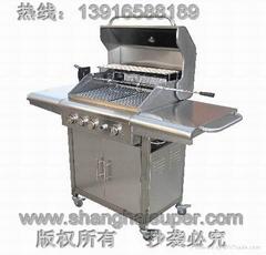 豪华型不锈钢燃气烧烤炉