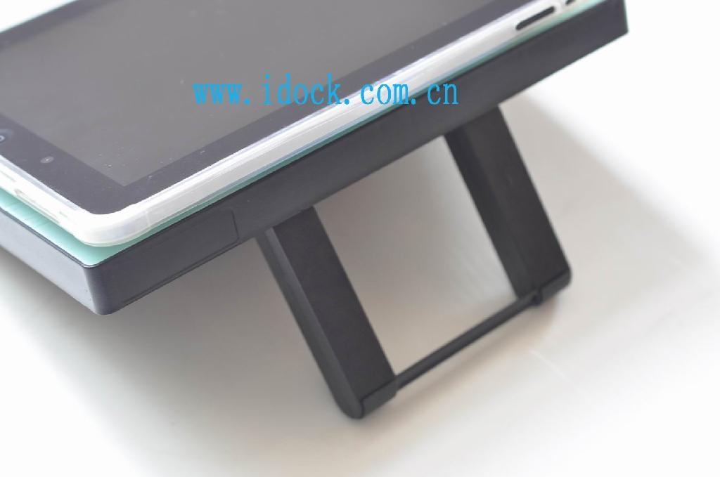 iPad stand with 4 ports usb hub and fan 3
