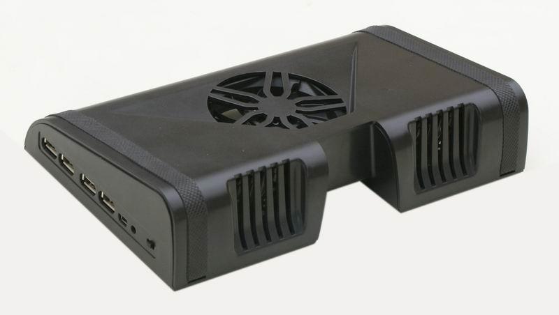 iDock MC1 mini laptop cooler pad with 4 ports usb hub and speaker 2