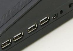iDock MC1 mini laptop cooler pad with 4 ports usb hub and speaker 5