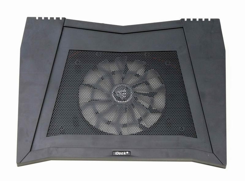 iDock MC4 big fan cooling pad with 4 ports usb hub and speaker 1