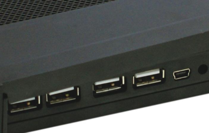 iDock MC4 big fan cooling pad with 4 ports usb hub and speaker 4