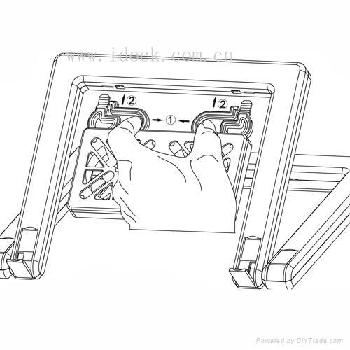 iDock X1 duplex option laptop cooler with usb 4