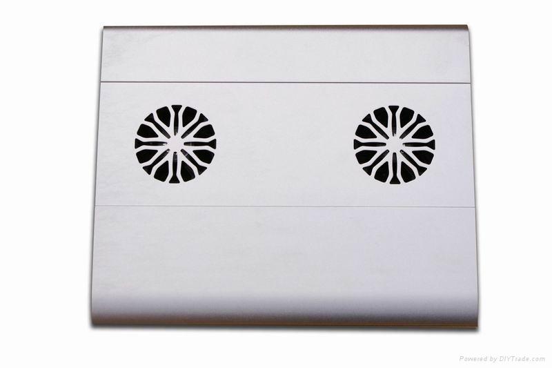 iDock C5 aluminum notebook cooler pad with usb 2