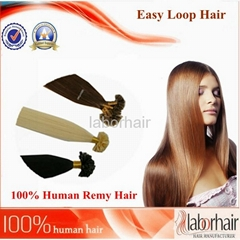 Nail-shape tipped human hair extension-straight