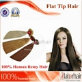 Flat shape tipped human hair extension-straight 1