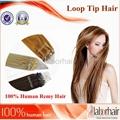 Micro ring loop human hair