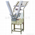 Automatic double spindles weft machine