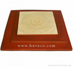 Coiled and press bamboo dish and tray from Huveco, Vietnam