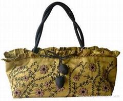 Distinctive silk handbags