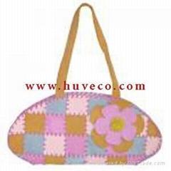 Suede handbags