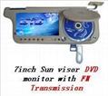 7inch Sun visor DVD monitor with FM