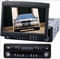 "7"" In-dash Car DVD Player with TFT LCD Monitor, TV, FM Tuner & Amplifier"