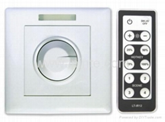 Knob switch led dimmer with remote 1w 3w