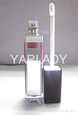 cosmetic LED ligth+mirror+lipgloss 3
