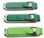 Sell leather USB flashdrive steel edge