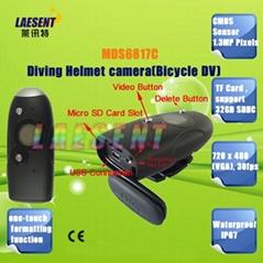 Diving Helmet camera Bicycle DV CMOS Sensor 1.3MP Pixels