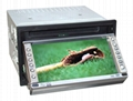 Car Two-Din In-Dash DVD Player Car Video