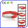 Wholesale Power Magnetic Silicone Bracelet
