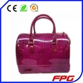FURLA CANDY JELLY LOCK RUBBER TOTE BAG