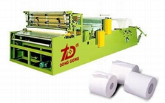 DOT-By-DOT Rewinding And Perforating Toilet Paper Machine