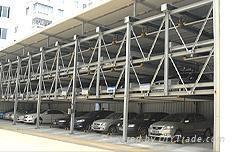 四層昇降橫移停車設備