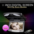 11inch Roof mounted car dvd monitor/TFT LCD flip down monitor (Hot Product - 1*)