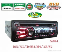 IN DASH CAR DVD CD MP4/MP3 FM RADIO PLAYER SD USB