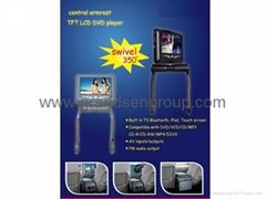 "8.5""Car Central Armrest DVD player with TV function/IPOD/USB/SD/FM transmitter"