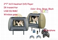 "7""Headrest DVD Player game player USB SD IR FM (Hot Product - 1*)"