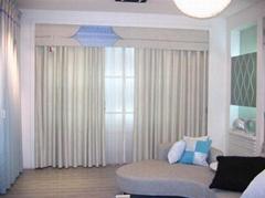 藍天窗帘為廣州地區乃至珠三角地區廣氾提供窗帘、捲簾、百葉、電