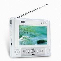 Portable DVD Player with Built-in TV Set and 7-inch 16:9 TFT LCD Display