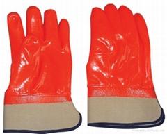 Fluorescent PVC glove