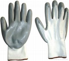 Grey foam nitrile fully coated glove