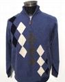 Men's high collar and half-zipped