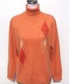 Women's turn-down collar sweater with