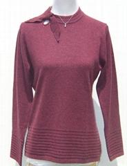 Women's butterfly-collar sweater
