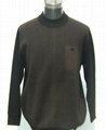 Man's round-collar pullover sweater