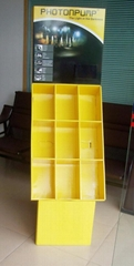 Floor display, Brochure display, Cardboard display, Display shelf, Detailed disp