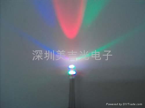 LED 3mm 5mm 红蓝双闪 (闪烁) 3
