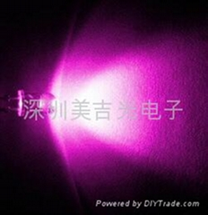 LED 3MM 5MM 粉红色 粉红光
