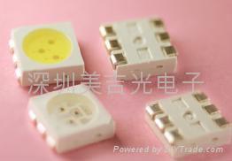 SMD 贴片 5050 白光 LED发光管 1