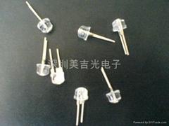 LED 0.5W 紫光 8MM 草帽型