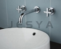 Wall concealed basin mixer