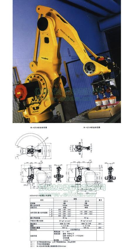 依利達自動裝箱機器人手臂/高速搬運機器人/裝箱機械人手臂/物 1