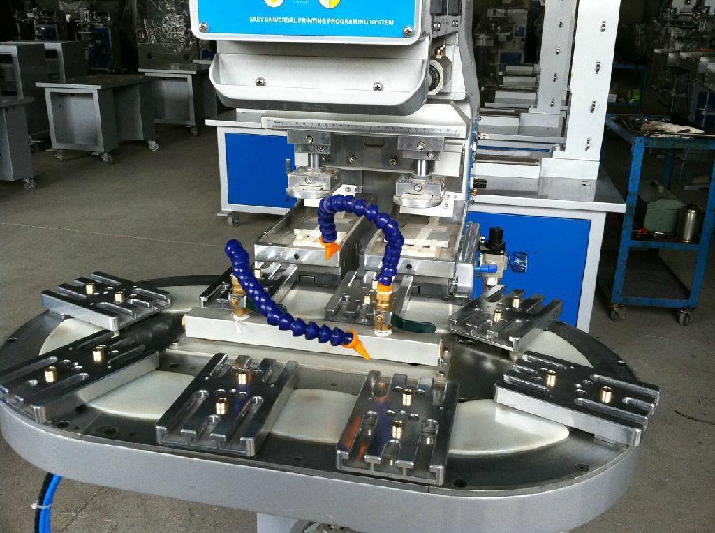 双色转盘开放式移印机 - 双色移印机 - 油盘移印机; 输送带结构图